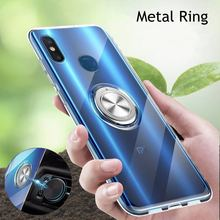 360 Metal Finger Ring Magnet Case For Xiaomi 8 9 mi8lite mi9lite mi8discovery Clear Soft Silicon Cover For Xiaomi Redmi Note 7