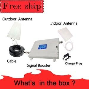 Image 5 - 70dB wzmocnienie 2g 3g 4g tri band wzmacniacz sygnału 850 1800 2100 CDMA WCDMA UMTS LTE wzmacniacz komórkowy 850/1800/2100mhz wzmacniacz