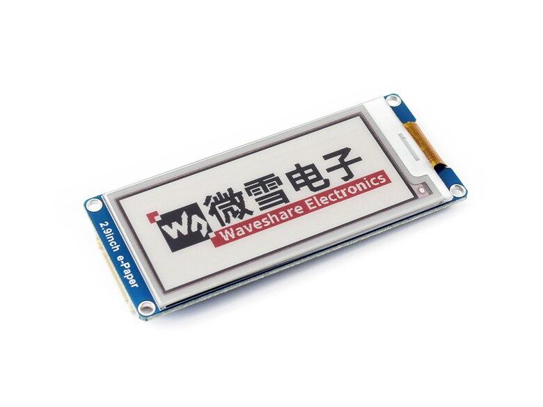 2.9 pouces E-ink affichage module, 2.9 ''e-papier, 296x128, Trois Affichage couleur: rouge, noir, blanc, SPI interface, Pas de rétro-éclairage, grand angle,