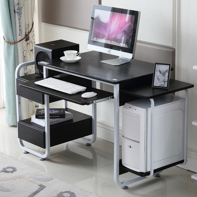 The holy crown simple desktop computer desk wood office furniture minimalist desk with drawers tables new & The holy crown simple desktop computer desk wood office furniture ...