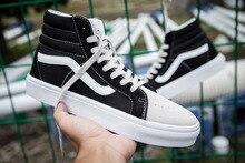 Vans 2016 new arrival sk8-hi unisex shoes for men's and women's high top street skateboarding sneakers