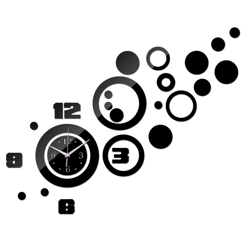 2015 nova promoção venda quente espelho relógio de parede de quartzo relógio moderno 3d decalque projeto melhor decoração para casa Diy relógios frete grátis