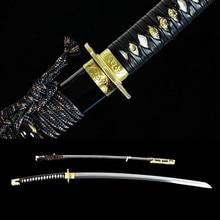 Handmade Clay Tempered Shihozume Blade Japanese Katana Tachi Samurai Sword New