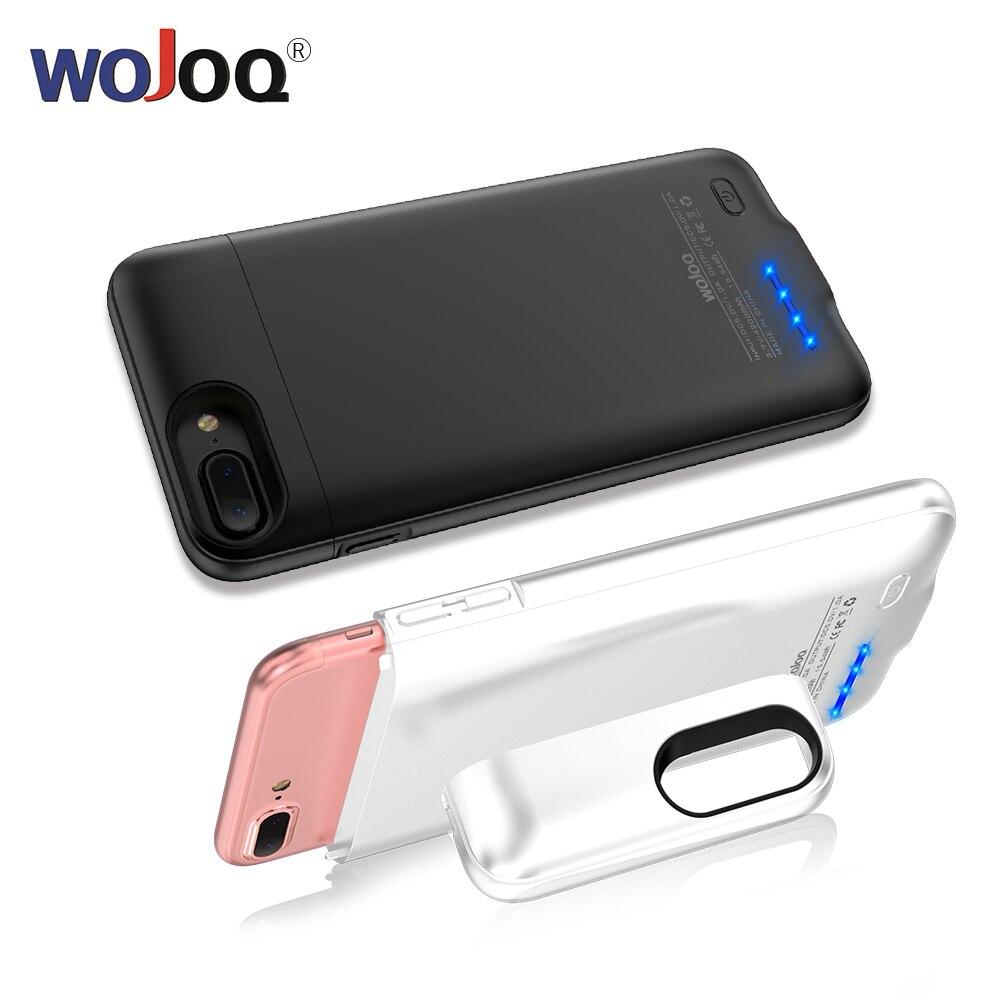WOJOQ Batterie Cas Pour iPhone 6 6 s 7 8 Puissance Banque Charing Cas 3000 mah/4200 mah Pour iPhone6 6 s 7 Plus La Batterie Chargeur Cas de Couverture