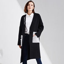 2017 Winter Coat Knitted Fall Fashion Runway Autumn Womens Plus Size Windbreakers Long Coats Knitwear Ladies