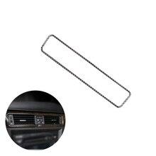 Dla BMW serii 3 E90 E92 E93 2005 2011 2012 z włókna węglowego wnętrza samochodu centrum sterowania klimatyzacja osłona wylotu