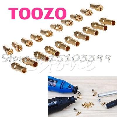 10Pcs Drill Chucks Collet Bits Brass 0.5-3.2mm 4.3mm Shank Fr Dremel Rotary Tool G08 Whosale&DropShip