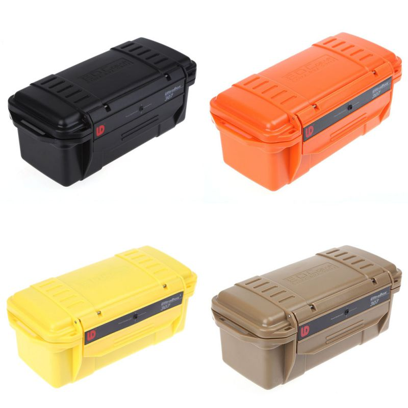 Outdoor Waterproof Shockproof Airtight Survival Case Container Storage Carry Box Case  2018 New Style   Travel Kits camera lens waterproof shockproof case dry storage seal box