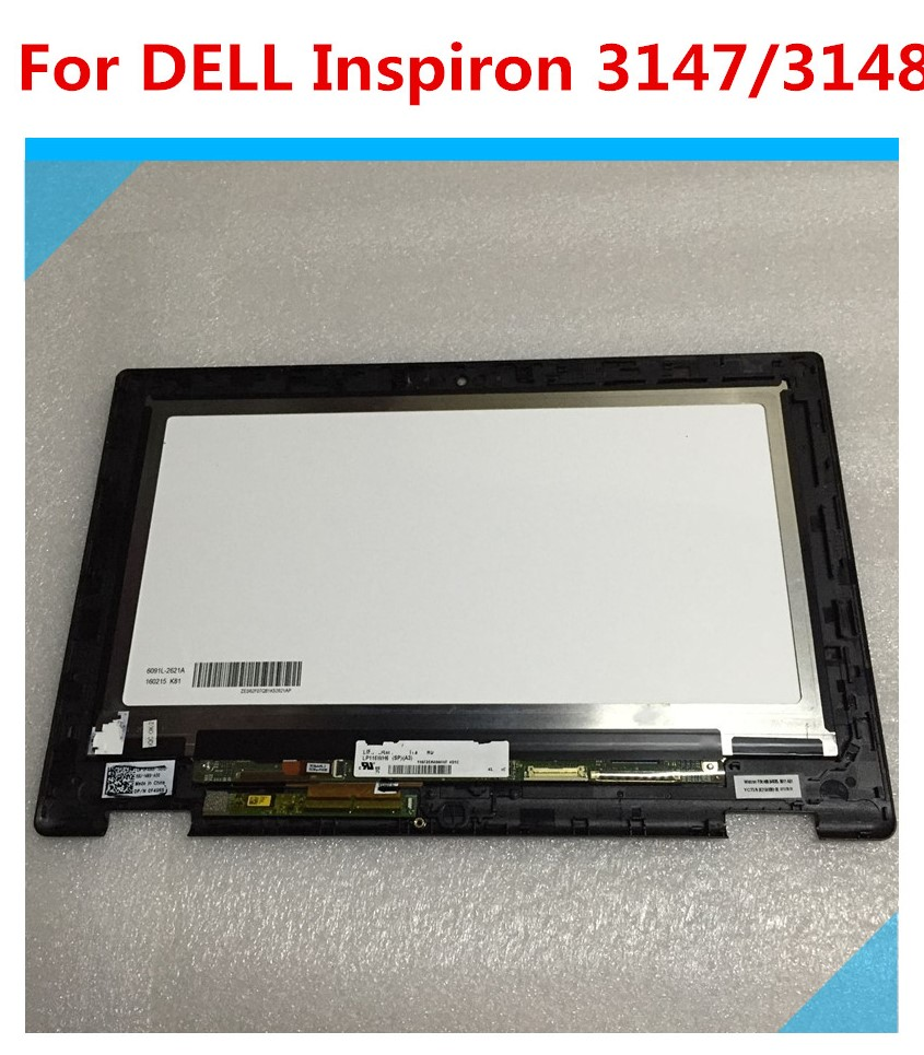 116LCD Screen Touch Panel Assembly LP116WH6 SPA2 For DELL Inspiron 11 3000 3147 laptop lcd display touch screen assembly for dell inspiron 11 3000 series 3147 3157 3158 3152 3153 1366 768