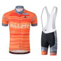 Man Short Sleeve Bicycle Jersey Bib Shorts MTB Bike Jerseys Set Road Track Race Cut Aero