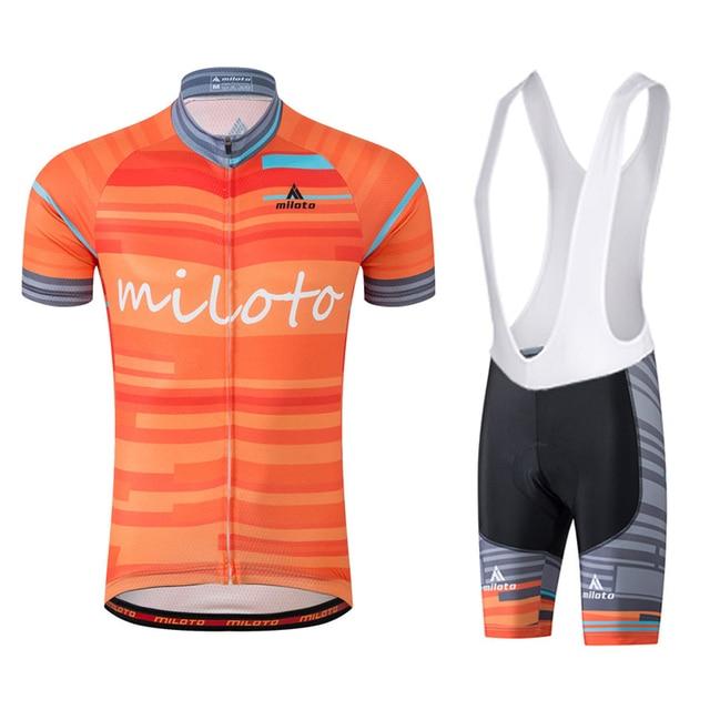 Man Short Sleeve Bicycle Jersey Bib Shorts MTB Bike Jerseys Set Road Track  Race Cut Aero Mountain bike Cycling Clothing Wear bb64a8afc
