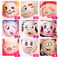4 pcs Lactation Belly Stickers Cute Photography Props Woman Pregnant Smiling Face Maternity Accessories pregnant belly Sticker