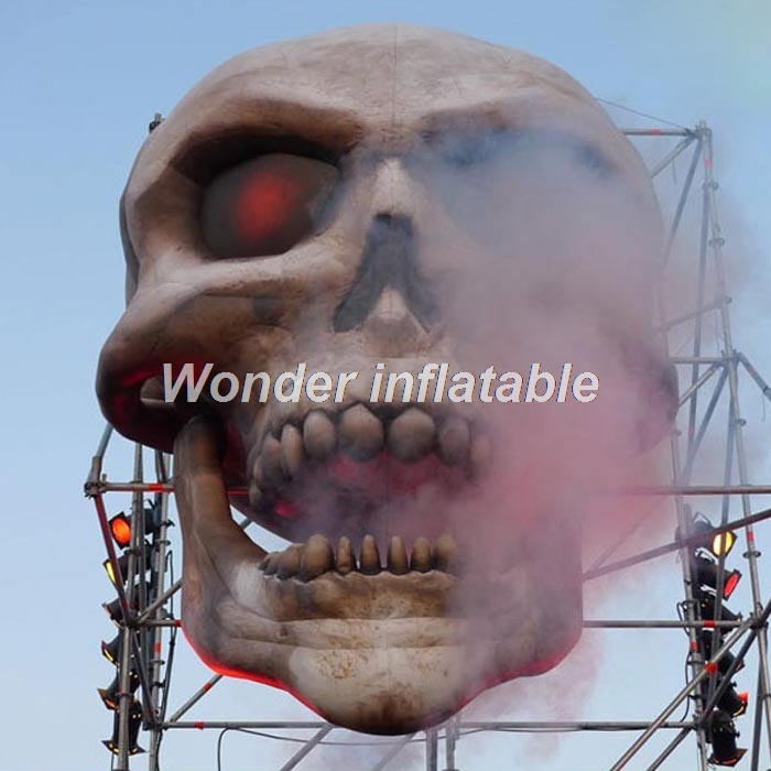 hot sale 4m outdoor inflatable halloween decorations giant skull head for advertisingchina mainland - Outdoor Inflatable Halloween Decorations
