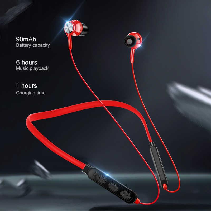 Tai Nghe Bluetooth Chụp Tai Từ Tính Không Dây Tai Nghe Âm Thanh Hifi Stereo Tai Nghe Chống Nước Tai Nghe Nhét Tai Có Mic Thể Thao Cổ Cho Xiaomi GT