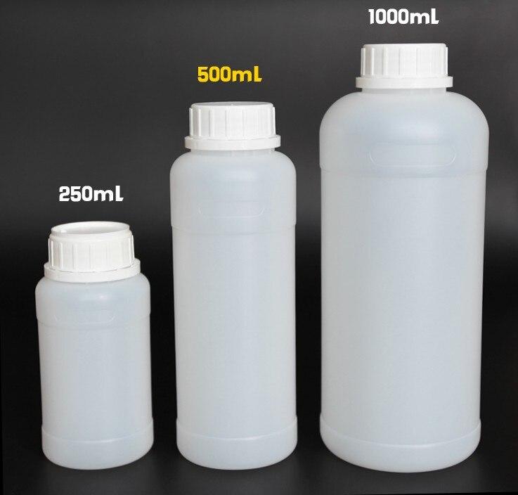 10pcs 1000ml industrial plastic bottles 35oz PE 1 liter HDPE plastic chemical bottle with anti theft