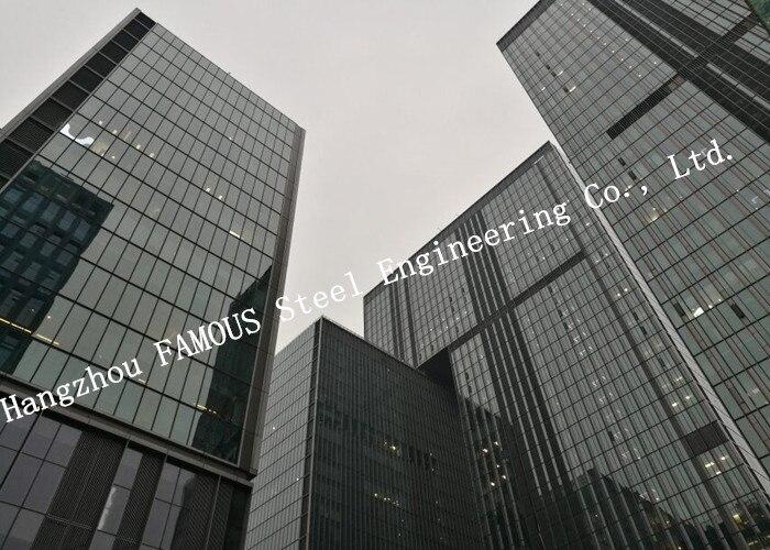 Geïsoleerde dubbele huid glas gordijn muur verwijderbare kantoor