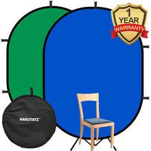 1*1.5M / 1.5*2M Collapsible Reflector 2 in 1 Popup Backdrop Reversible Collapsible Studio Screen Cloth Background Oval Reflector