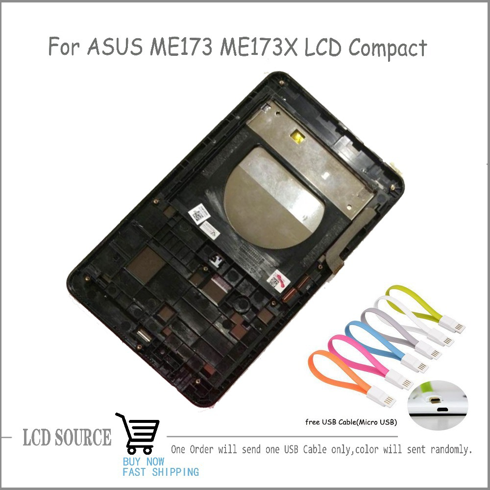 LCD Compact With Frame For Asus MeMO Pad HD 7 ME173 ME173X K00b LCD Display Touch Digitizer Sensors Assembly Replacement