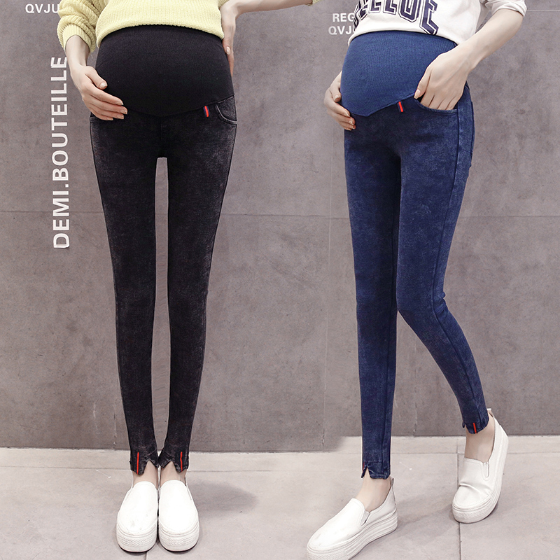 d7590082e3104 2018 new Modal pregnant women leggings summer thin section abdominal pants  cartoon cute Maternity Clothing
