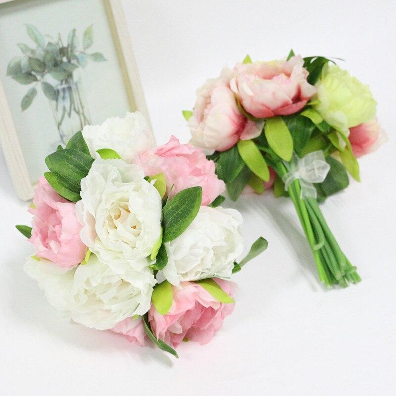 Wedding Hand Bouquet Flower: Aliexpress.com : Buy Artificial Peony Flowers Silk Flower