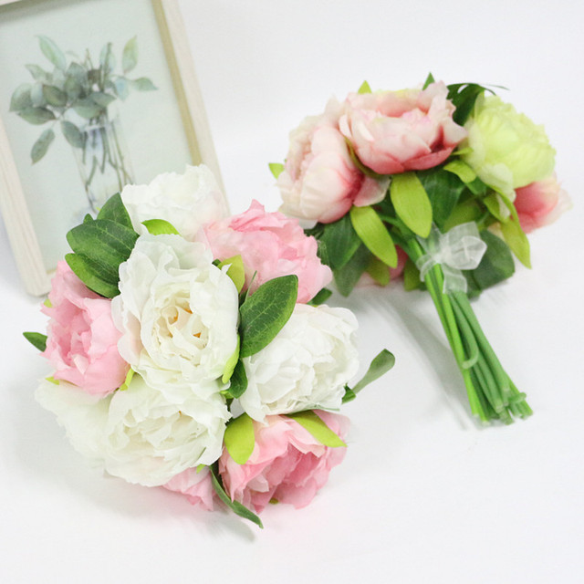 Artificial Peony Flowers Silk Flower Wedding Bouquet Wedding Flower ...