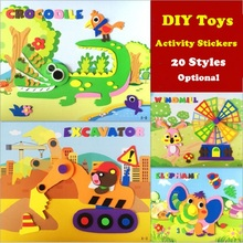 Foam-Stickers Puzzle DIY Educational-Toys Pasting-Paper Gifts Stereo Kids Children 3D