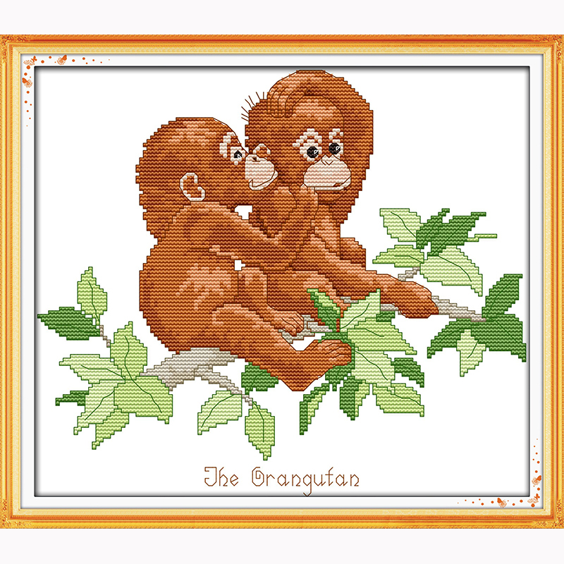 Package Orangutan Birth Record Counted Chinese Cross Stitch 11ct 14ct Handmade Cross Stitch Dmc Set Diy Cross-stitch Kits Embroidery To Win A High Admiration And Is Widely Trusted At Home And Abroad. Cross-stitch
