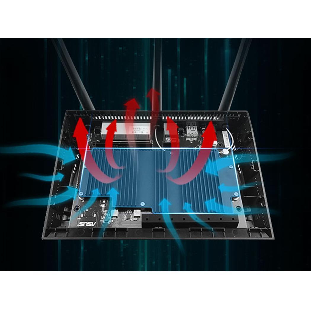 Répéteur WiFi réseau sans fil 2.4 GHz/5 GHz Gigabit WiFi noir 1750 Mbps 802.11ac et routeur