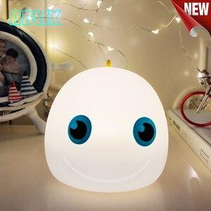 3D ночник с животными для детей морская рыба Ночная лампа для детей 7 цветов меняющаяся Светодиодная лампа для малышей для спальни Рождественский подарок