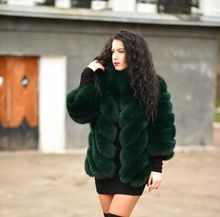 Free DHL/EMS Hot Female New Arrival Brand Natural Fox Fur Outerwear Coats Women's Vogue Casual Lapel Real Fox Fur Coat