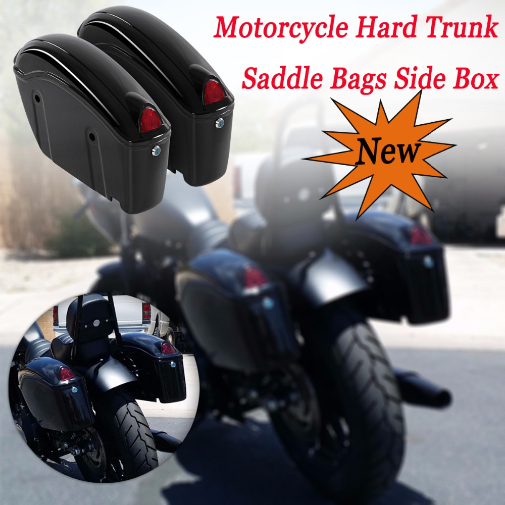1 Pair 26L Black Motorcycle Hard Trunk Saddlebags Sade Case ABS Hard Saddle Bags Side Box Fit Most Cruiser duhan motorcycle waterproof saddle bags riding travel luggage moto racing tool tail bags black multifunction side bag 1 pair