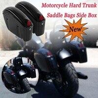 1 Pair 26L Black Motorcycle Hard Trunk Saddlebags Sade Case ABS Hard Saddle Bags Side Box Fit Most Cruiser