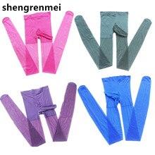 Shengrenmei сексуальные неженственные Фетиш прозрачные колготки чулки с закрытым промежностью облегающее экзотическое белье 8 цветов колготки