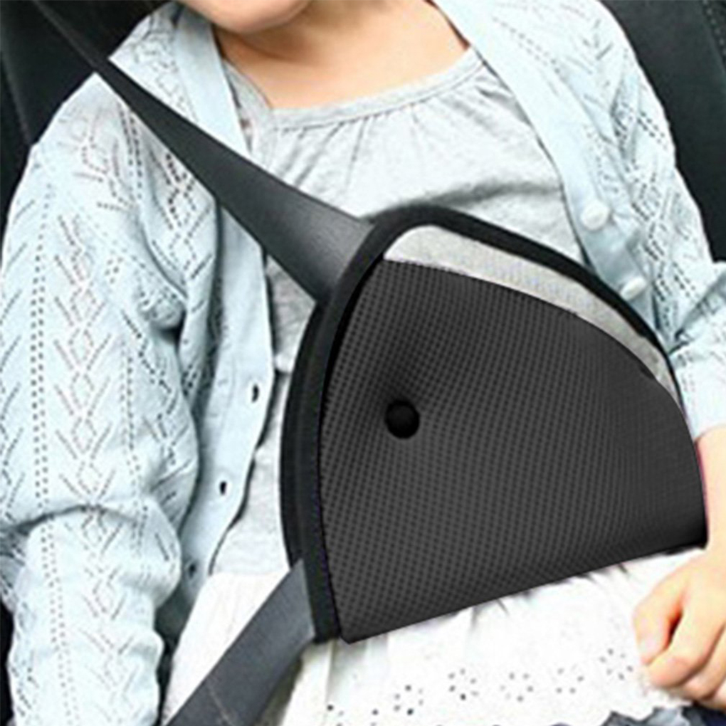 Triangle Baby Kid Car Safe Fit Seat Belt Adjuster Device Auto Safety Shoulder Harness Strap Cover Child Neck Protect Positioner
