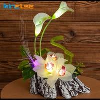 LED Night Light LED Lighted Calla Lily Artificial Table Lamps Flower Arrangement Bedside Wedding Christmas Decor Lighting 12V 1A