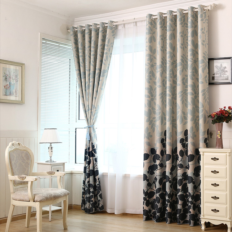 Pastoral High Quality Window Screening Curtain Finished Product Treatments Panel Draperies Printed Curtains For Living Room