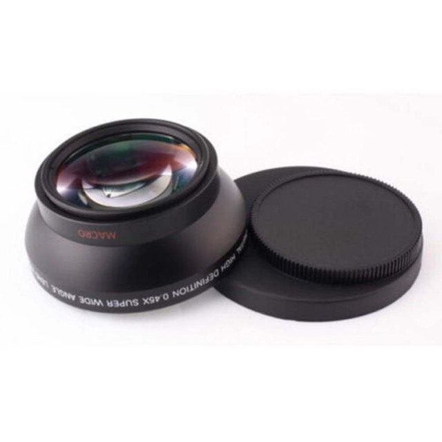 FOTGA 58mm 0.45x Wide Angle & Macro Conversion Fixed Focus Lens 0.45x 58 for CANON NIKON SONY 58MM Lens 8