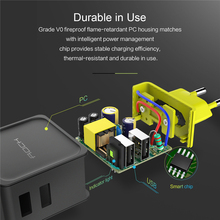 ROCK Sugar 4 USB Wall Phone Charger 5V 4A Fast Travel Adapter Charger for iPhone