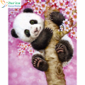 DIY 5D Diamond embroidery painting animals panda tree picture of rhinestones embroidery with diamond mosaic sets for bk