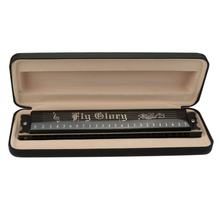 High Guality 24 Holes Tremolo Harmonica Mouth Ogan Musical 24 Harps with Gift Case Woodwind Instruments New