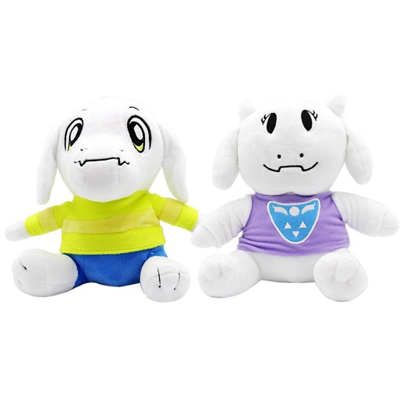 2pcs/lot 20cm Undertale Sans Asriel & Toriel Plush Toys Doll Undertale Plush Soft Stuffed Animals Toys For Kids Children Gifts