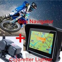 """Обновление 4,"""" мотоцикл gps навигация Сенсорный экран Водонепроницаемый IPX7 gps навигация Bluetooth 8 ГБ+ мотоцикл зарядное устройство USB подарок"""