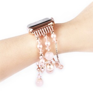 Image 4 - Womens Agate Stretch Bracelet for Apple Watch Band for iWatch Seies 1/2/3/4/5 44mm 42mm 40mm 38mm Wrist Strap Watch Band Belt
