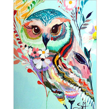 New arrival Animal 5d Diy diamond Painting Cross Stitch 3d  embroidery arts and crafts owl picture Mosaic pattern gift
