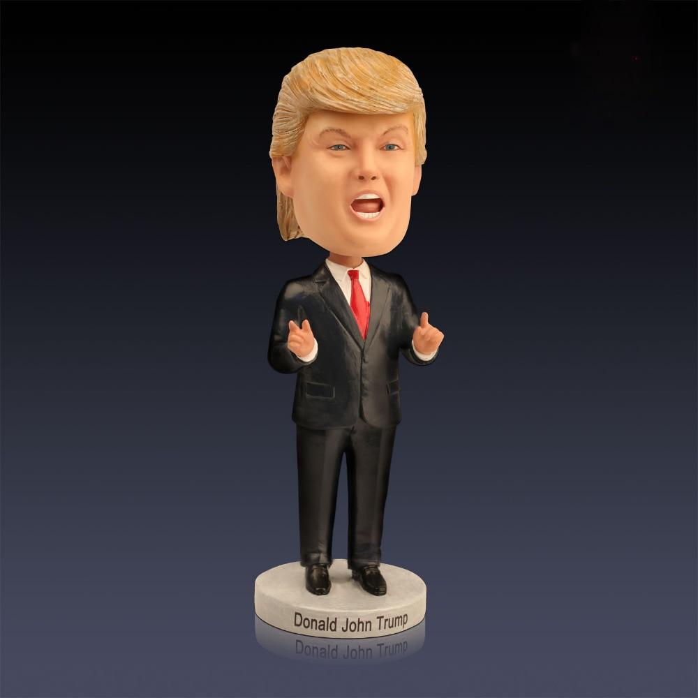 Novelty Donald Trump Bobblehead Dolls Shake Head Toys Anti-stress Toys Resin Crafts Character Ornaments