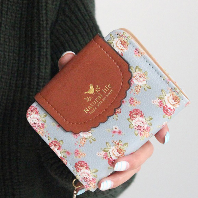 Japan's Rural Style Women Wallets Floral Print Sweet Lady Carteira Hasp Coin Purse Wallets Card Holder smartbuy smartbuy drum sbs 2900 серый