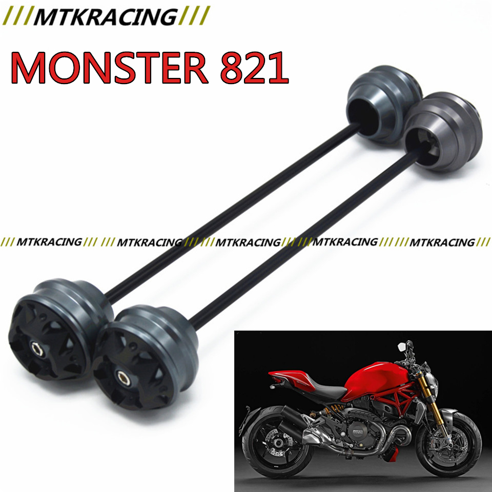 MTKRACING For Ducati MONSTER 821 2014-2015 CNC Modified Motorcycle Front and rear wheels drop ball / shock absorber free delivery for ducati monster s4r 2003 2008 cnc modified motorcycle drop ball shock absorber