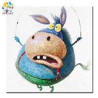 Handmade Abstract Cartoon Wall Paintings Stupid Humorous Funny Comic Donkey Neddy Kids Children S Room Decor