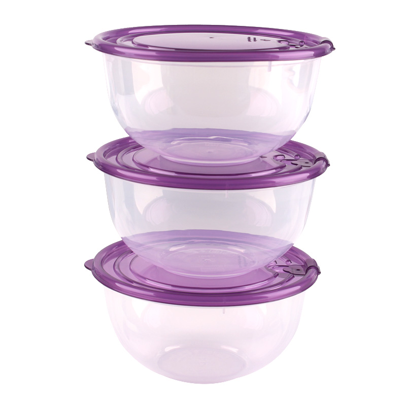 Free Shipping Microwave Oven Lunch Box Plastic Bowl With Lid Triangle 760ml Set Jpg