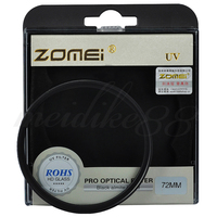 Zomei 72mm UV Ultra Violet Filter Lens Protector For Nikon Canon Sony Camera Free Shipping
